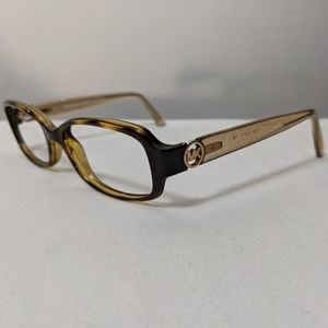 Michael Kors Tabitha Brown Yellow Glitter Glasses